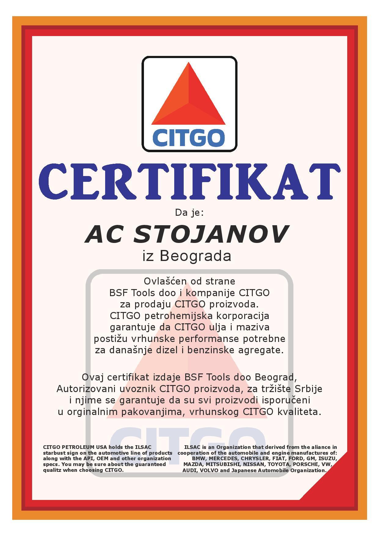 Citgo_sertifikat_ AC_Stojanov